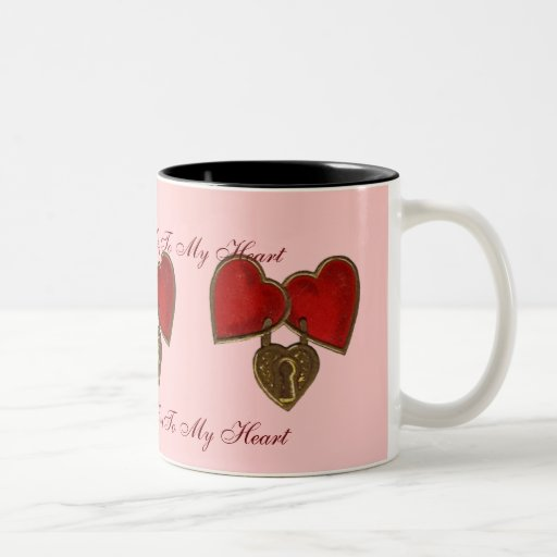 Valentine's Locked Hearts & Key Verse Mug