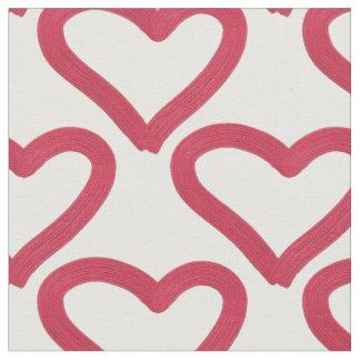 valentine's love hand-drawn pattern fabric