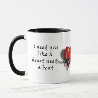 "Valentines Love Mug ""I need you"""