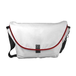 Valentines Love Pouch Overnight White Red Trim Courier Bag