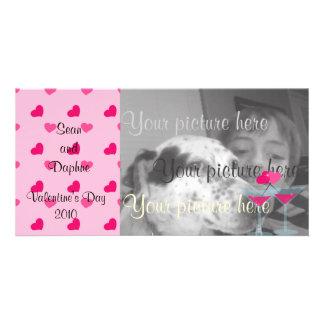 Valentine's Martinis- the Valentinis! Custom Photo Card
