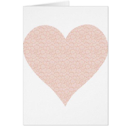 Valentines modern heart card