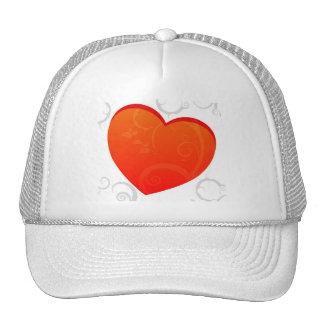 Valentine's Motif Mesh Hats