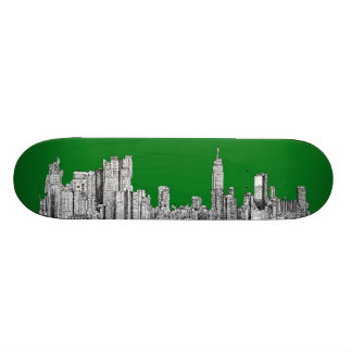 valentines NYC in green Skate Board Deck