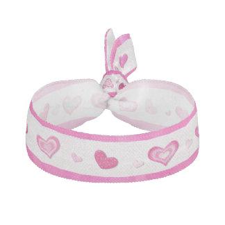 Valentines ornés de bijoux de TWEEN de coeurs Élastiques Pour Cheveux