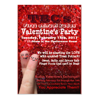 """Valentine's Party Flyer 5"""" X 7"""" Invitation Card"""
