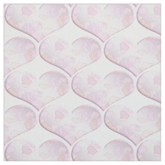 Valentine's pattern with hearts . fabric