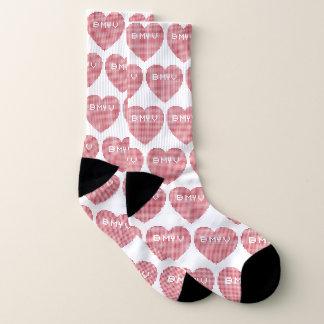 Valentines Pixel B MY V Socks