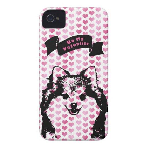 Valentines - Pomeranian Silhouette Blackberry Cases