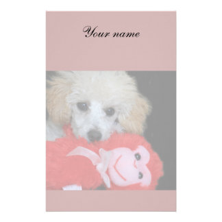 Valentines poodle puppy stationary stationery