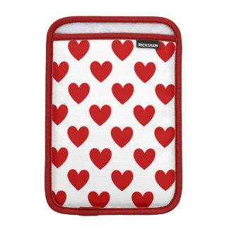 Valentine's Red Love Hearts, iPad Mini Sleeve