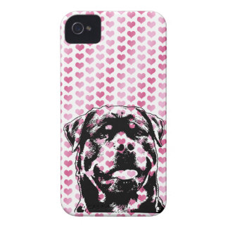 Valentines - Rottweiler Silhouette iPhone 4 Covers