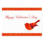 Valentines rouges de l'oiseau ACEO Cartes De Visite Professionnelles