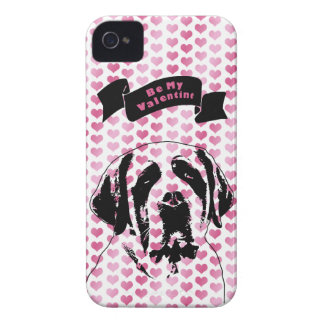 Valentines - Saint Bernard Silhouette iPhone 4 Covers