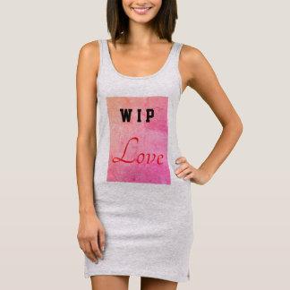 "Valentines special ""WIP Love"" Sleeveless Dress"