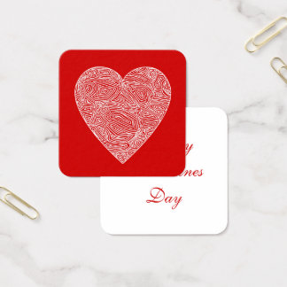 Valentines Square Business Card