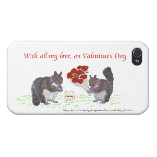 Valentine's Squirrel Couple iPhone cases iPhone 4 Cases