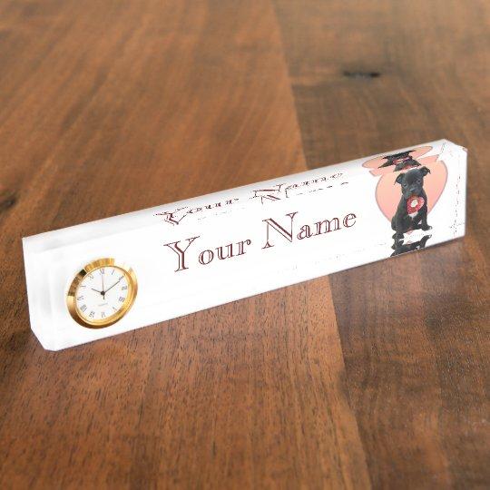 Valentine's Staffordshire bull terrier puppy Nameplates