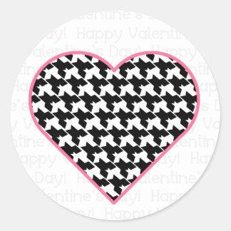 Valentine's Sticker - Houndstooth Heart