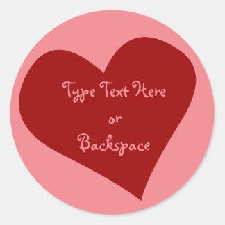 Valentine's Sticker I Love You Sticker Personalize
