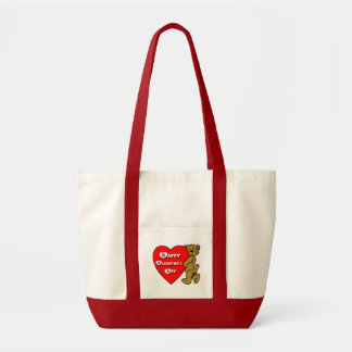 Valentine's Teddy Bear Tote Bag