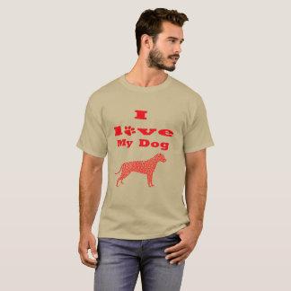 Valentines tops short sleeve I love my dog Shirt
