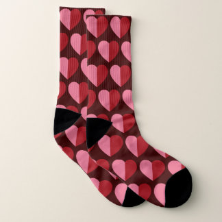 Valentines Two Tone Hearts Socks