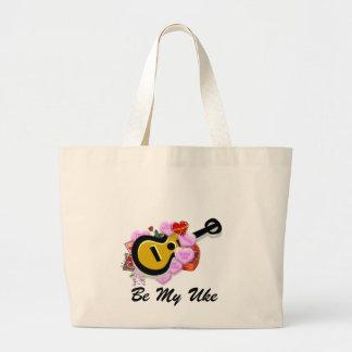 Valentine's Ukulele Jumbo Tote Bag
