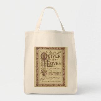 Valentine's Vintage print Tote Grocery Tote Bag