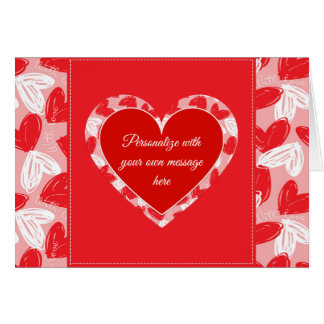 "Valentine's ""With Love"" Hearts 2 - Customize Card"