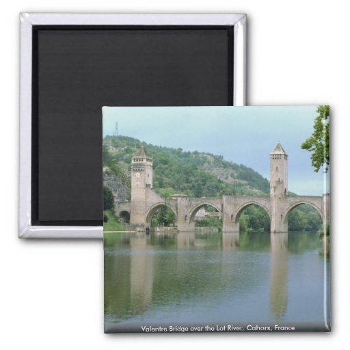 Valentre Bridge over the Lot River, Cahors, France Fridge Magnet