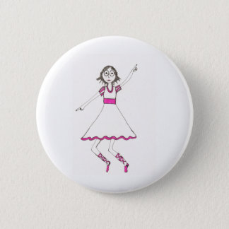 Valerie the Dancer 2 Inch Round Button