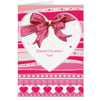 Valetine Red Hearts Love Card