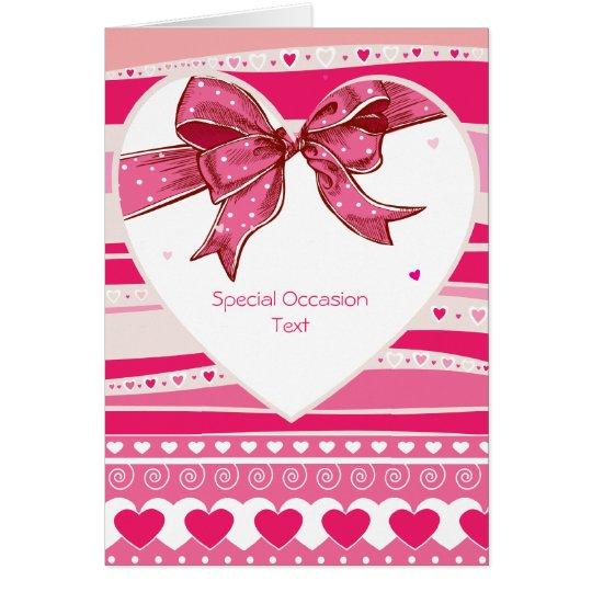 Valetine Red Hearts Love Card