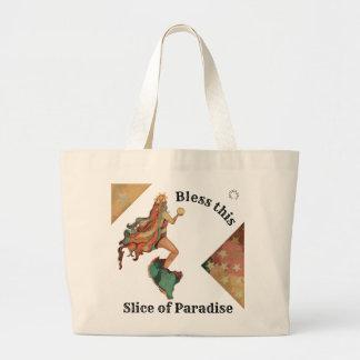 Valhalla Art Tuscan Pastels Stars Mystical Mermaid Large Tote Bag