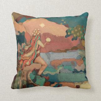 Valhalla Art Tuscan Pastels Stars Mystical Mermaid Throw Pillow