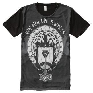 Valhalla Awaits All-Over-Print T-Shirt