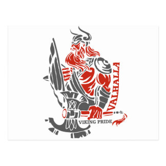 Valhalla - Viking Pride - Shield and Axe Design Postcard
