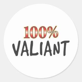 Valiant 100 Percent Round Stickers