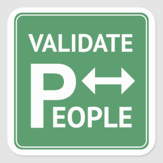 Validate People ~ reminder parking sticker DBT BPD