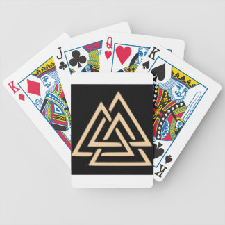 Valknut Bicycle Playing Cards