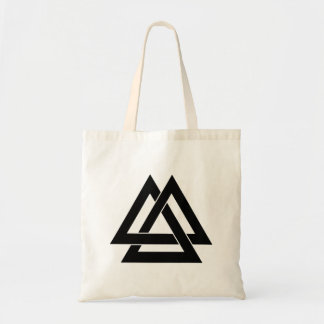 Valknut - Black and White Budget Tote Bag