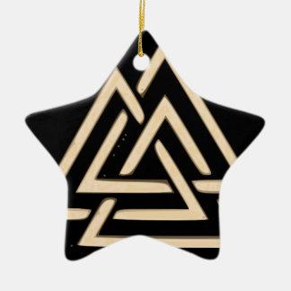 Valknut Ceramic Star Ornament