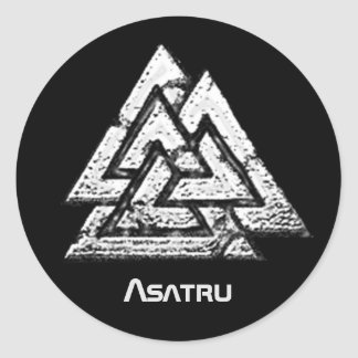 Valknut~ Classic Round Sticker