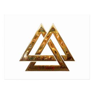 Valknut - Gold Postcard