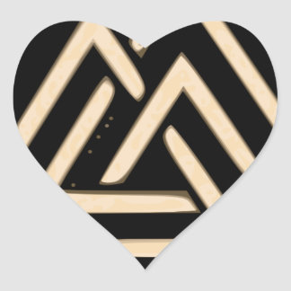 Valknut Heart Sticker