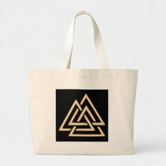 Valknut Large Tote Bag