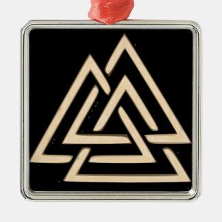 Valknut Metal Ornament