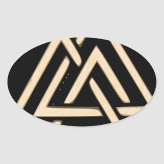 Valknut Oval Sticker