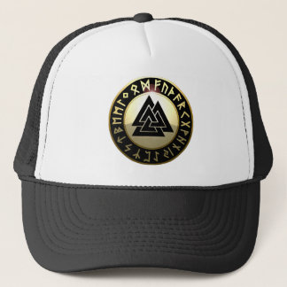 Valknut Rune Shield Trucker Hat
